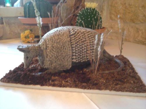 3d armadillo grooms cake real like2