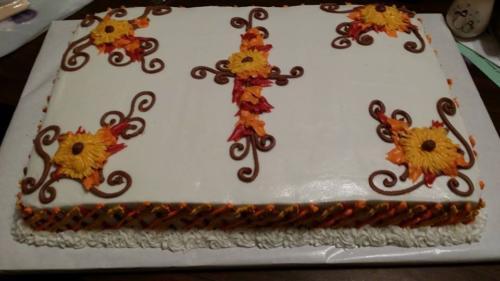 cross sumflowers my 40th bday