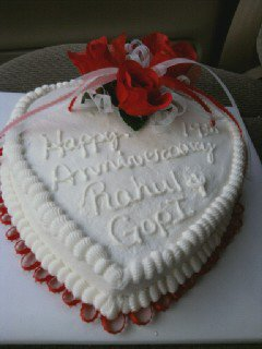 heart roses and ribbons anniversary