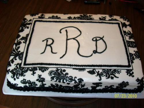 monogram wedding shower cake