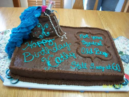 60th bday cake not old bag