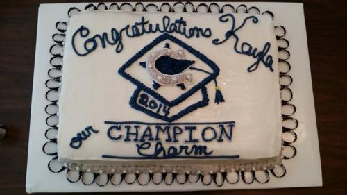 charms grad cake