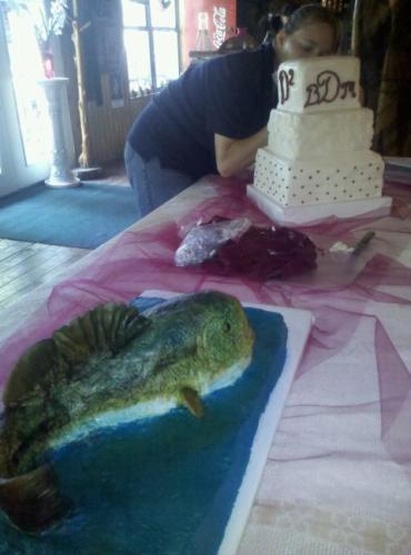davis and fish cake