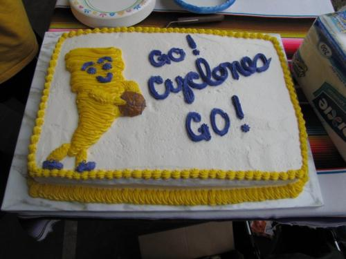 team cyclones basket ball cake
