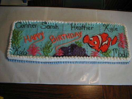 under the sea fish bday cake